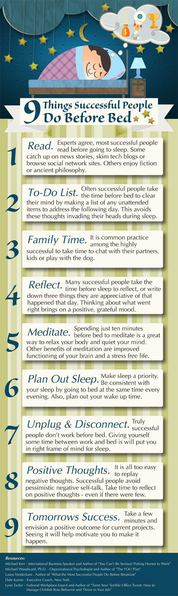 9 Things Successfuly People Do Before Bed